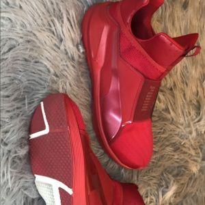Red fierce puma sneakers